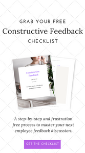 constructive feedback checklist