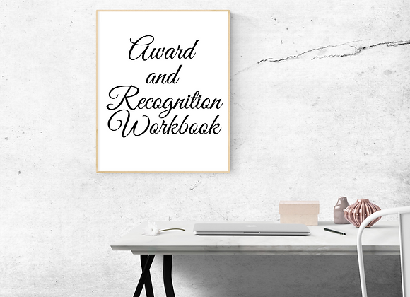 Award and Recognition Workbook