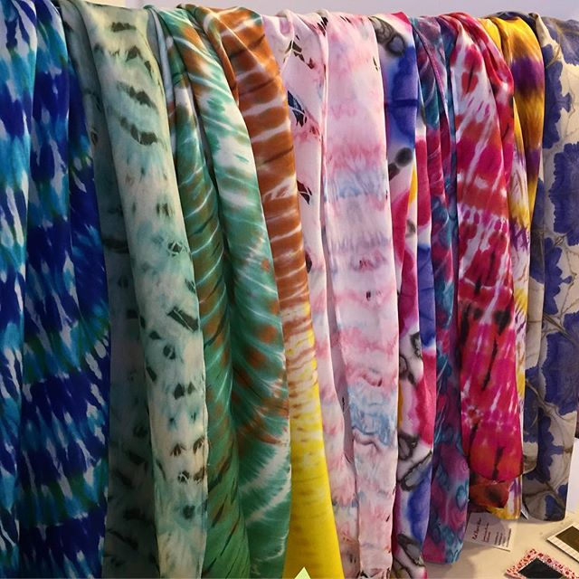 Silk scarves by Laura Norman