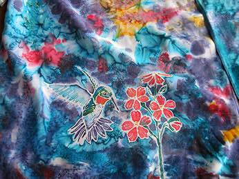 Hand dyed silk by Laura Norman
