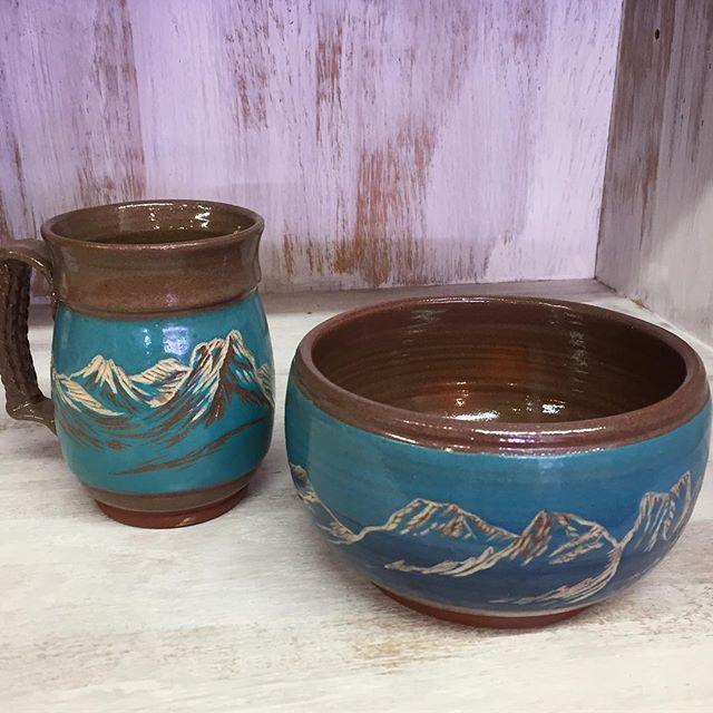 Pottery by Shawna Pickenpaugh.