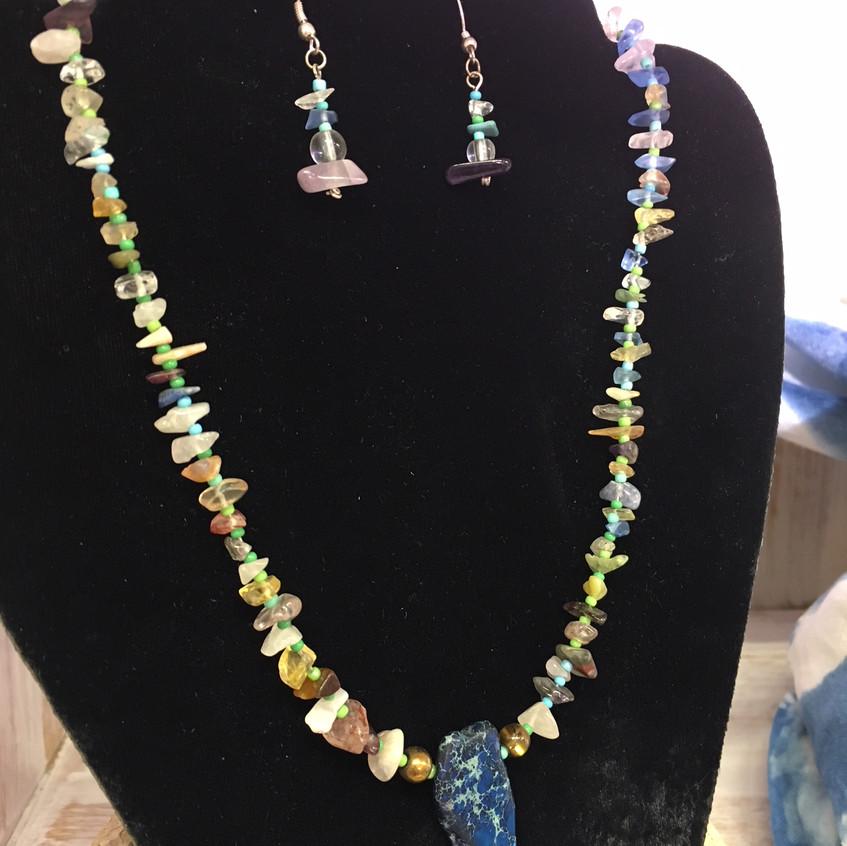 Necklace/Earrings by Noelle Weimann