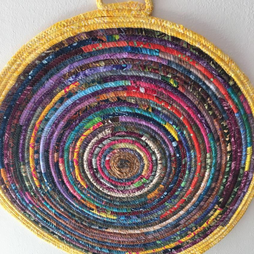 Fabric wall art by Mary Haper