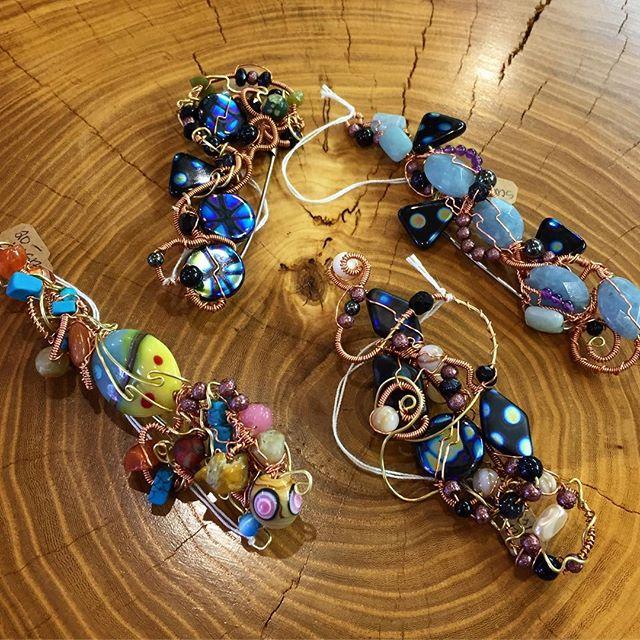 Scarf pins by Noelle Weimann