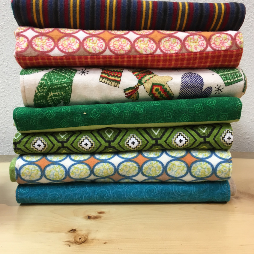 Flannel Scarves by Mary Haper