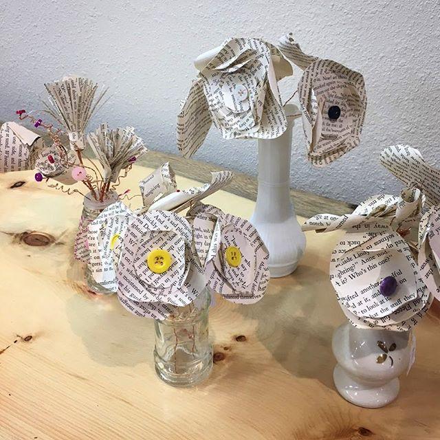 Paper flower bouquets by Lori Hunter