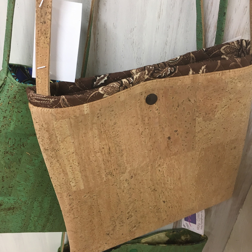 Cork purses by Mary Haper