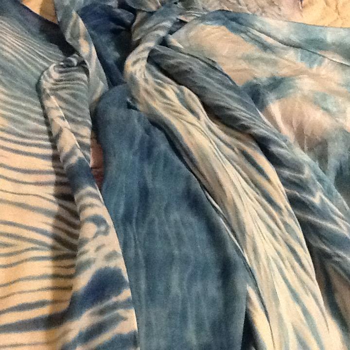 Indigo scarves by Laura Norman