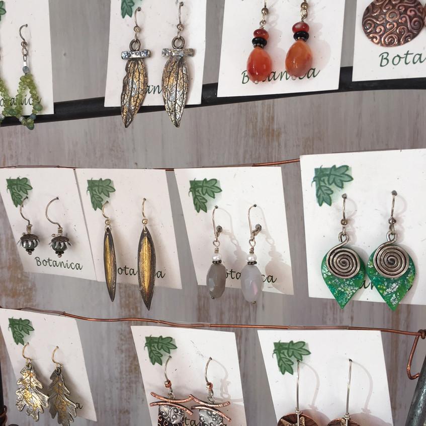 Earrings by Lennie Poitras