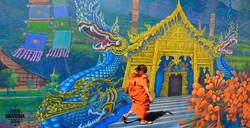 Monk in Chian Rai by Bransha Gautier
