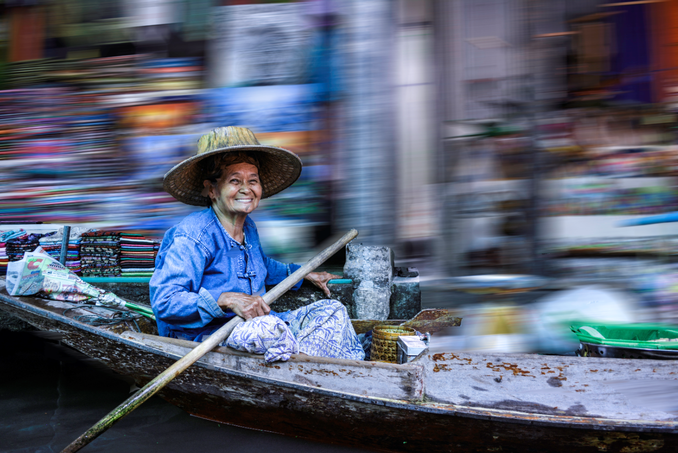 Floating Market by Bransha Gautier
