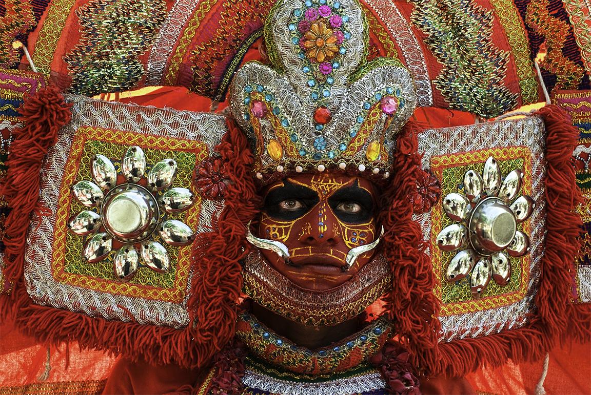 Theyyam worshiper by Bransha Gautier
