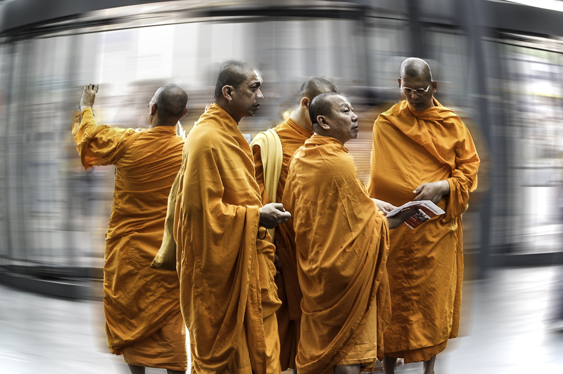 Monks by Bransha Gautier
