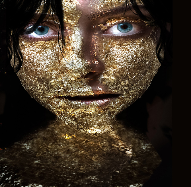 gold portrait by bransha gautier
