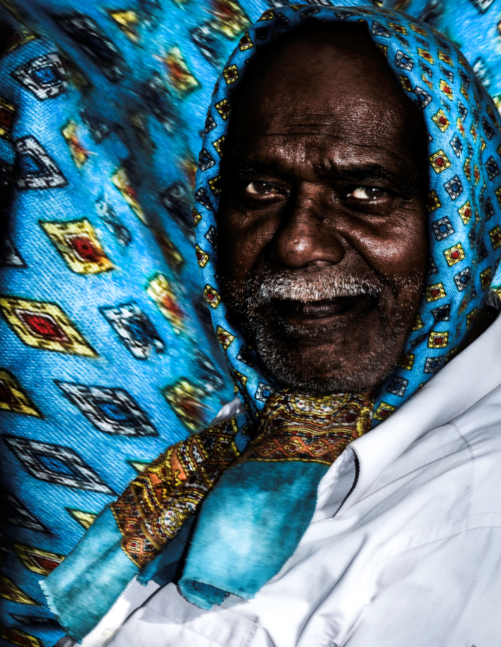 Man in a scarf by Bransha Gautier