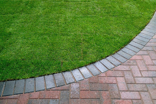EDGING HARD SURFACES TO PREVENT OVERGROWTH