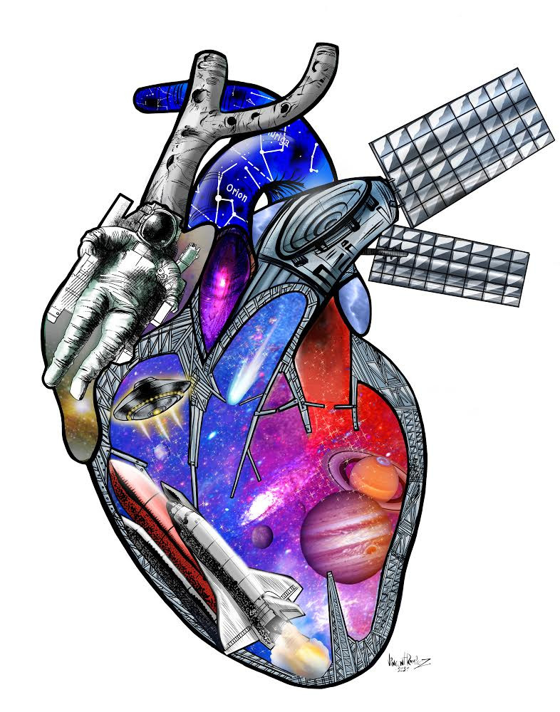 "Space Theme ""DORV""heart"