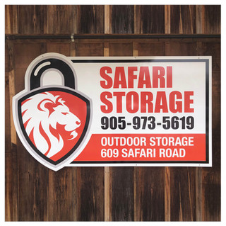 Safari Storage Sign