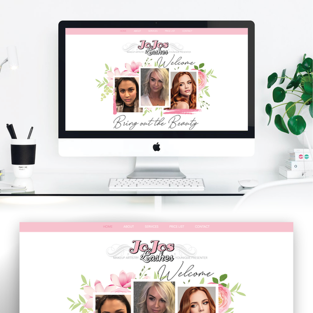 JoJos Lashes Website Design WWW.JOJOSLASHES.COM