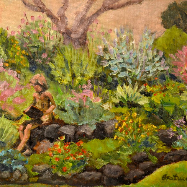 Bronze Girl in the Garden