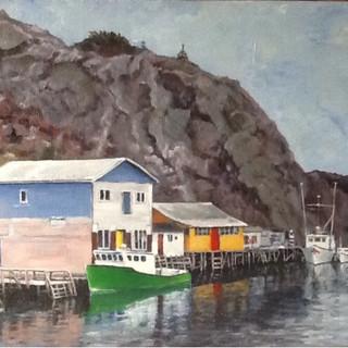 Green Boat at Quidi Vidi