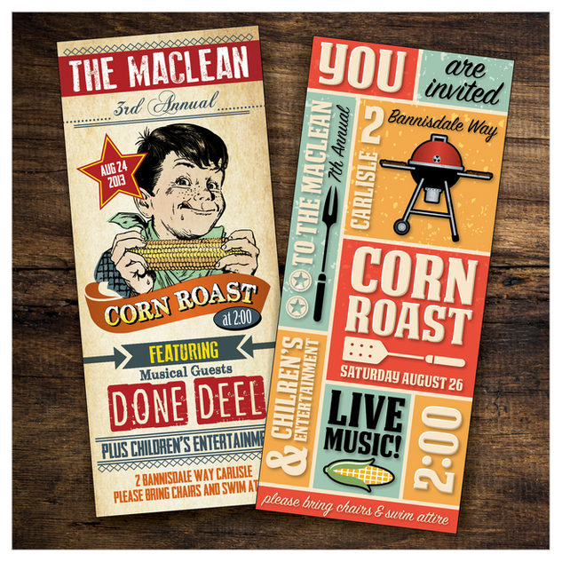 Corn Roast Invitations
