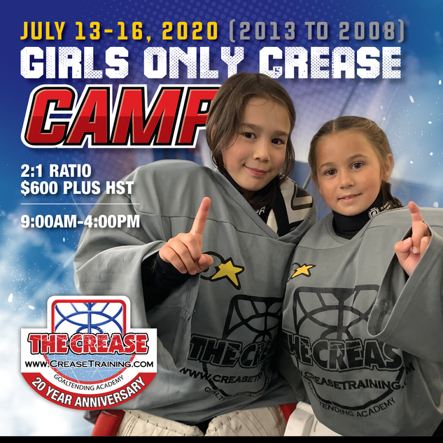2020 Girls Only Crease Camp Social Media Marketing