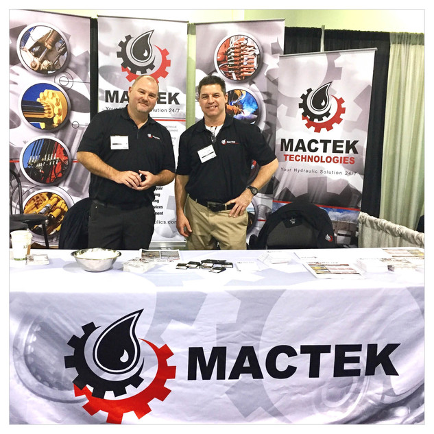 Mactek Tradeshow Display Banners and Tablecloth
