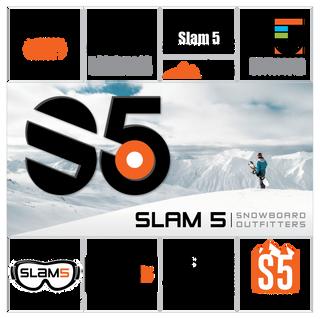 Slam 5 Logo Design