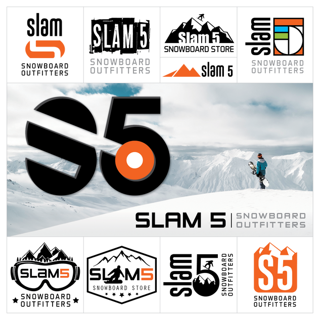 Slam 5 Logo Design