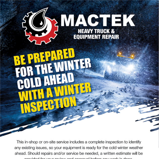 Mactek Winter Inspection Email Marketing