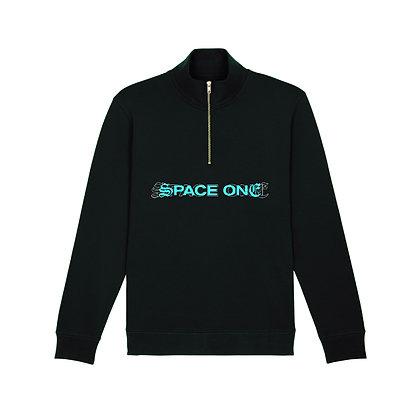 Duality —Black Zip Sweatshirt