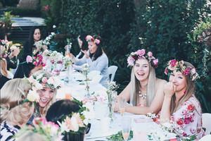 bridal shower flower crown workshop