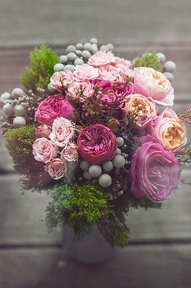pretty pinks posy