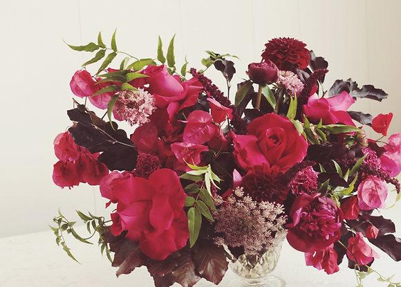 hot pink & plum bouquet