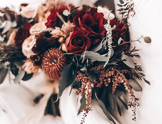 native flowers bridesmaids bouquet