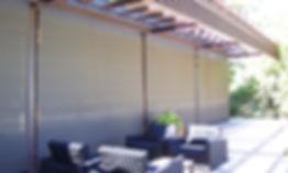 Cortina perma en terraza