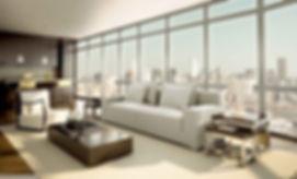 Edge Ultraview en sala de apartamento