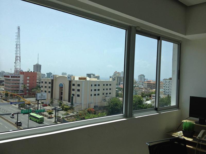 Laminado Huper Optik Select DREI en oficinas Torre KM, 27 de Febrero, Santo Domingo