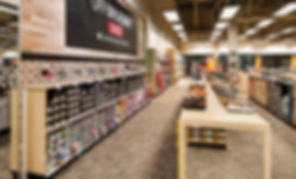 Patcraft carpet in shoe store