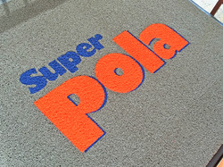 Alfombra con logo Supermat 500