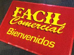 Alfombra con logo Supermat 500 color red