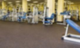 Piso de gimnasio en caucho de 8mm