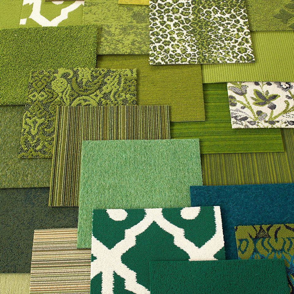 Modelos de alfombras en verde