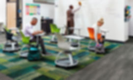 Alfombra Interface en salon de clases