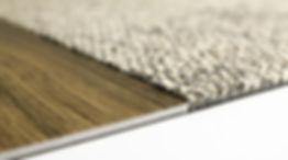 Interface transición alfombra piso