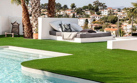 Césped artificial para patios