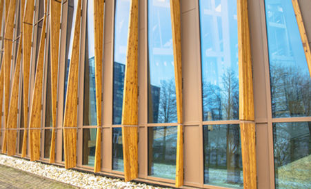 Performa Ecovision heat rejection window film on facade