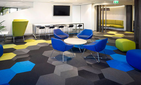 Alfombra modular Shaw Contract Hexagon