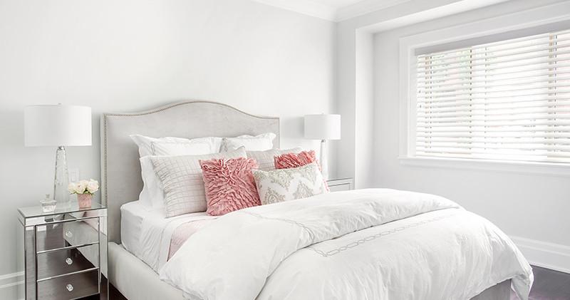 Cortinas de PVC Tecwood Superwhite en habitacion